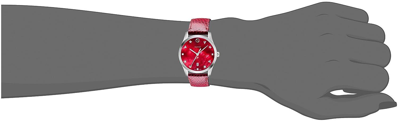 9002d7da671 Gucci Womens Analogue Classic Quartz Watch with Leather Strap YA126584   Gucci  Amazon.co.uk  Watches