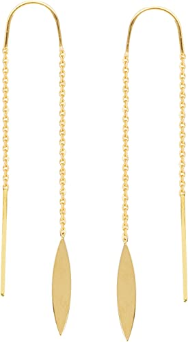 Threader Earrings 14Kt Gold Wire Threader Earrings