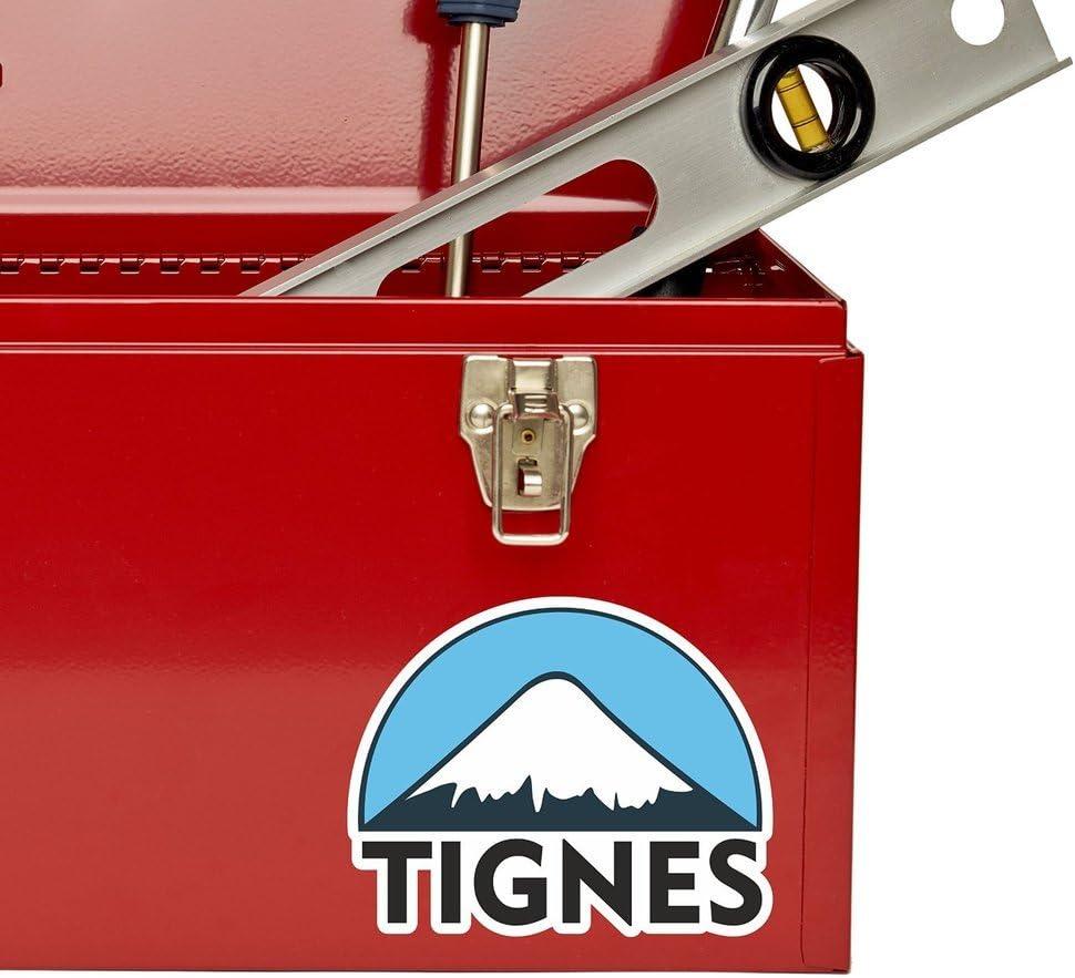 2 x 10cm//100mm Tignes Ski Snowboard Vinyl Sticker Decal Laptop Travel Luggage Car Bike Sign Fun #5122