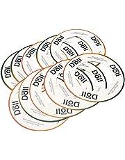 SM SunniMix 10 Pcs Standard Wax Warmer Universal Protective Collars Ring, Disposable Wax Heater Pot Paper Ring, Prevents Spills