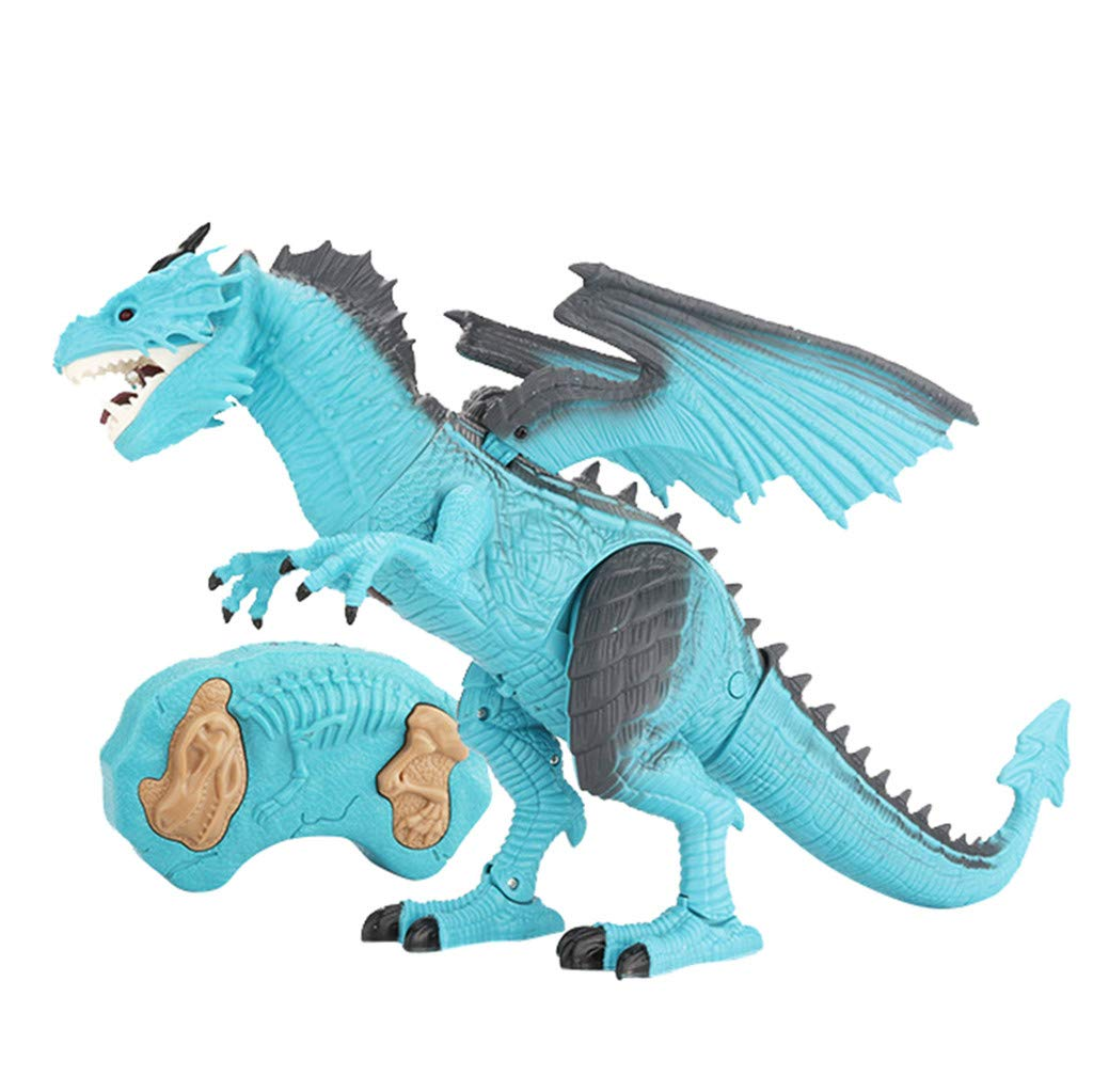 PSFS Remote Control Walking Dinosaur Toy,Fire Breathing Water Spray (Blue) by PSFS (Image #3)