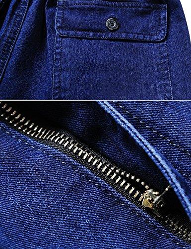 Youlee Homme Taille élastique Pantalons Droits Jeans