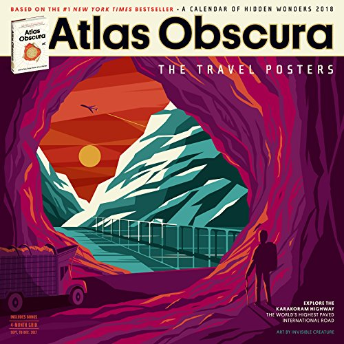 Atlas Obscura Wall Calendar 2018 cover