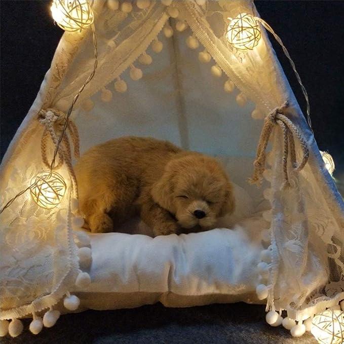 Lonshi Tienda para Mascotas Nest Summer Teddy Kennel Cat Nest Four Seasons Suministros para Perros pequeños y medianos Extraíble Cat Bed Villa: Amazon.es: ...