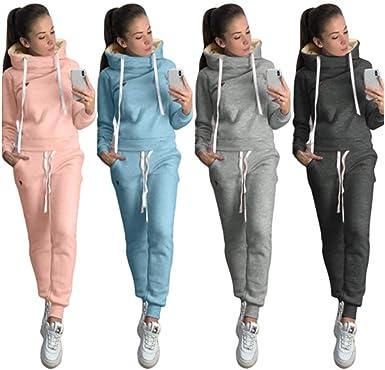 Tracksuit Hoodie Pants Sport Women Sweatshirt 2Pcs Wear Jumpsuit Jogging Sets