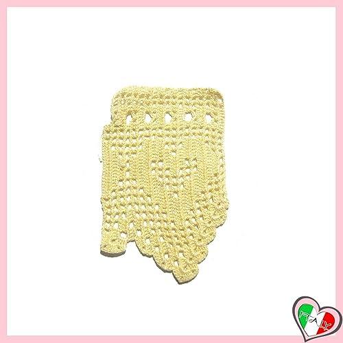 Bordo Giallo Pallido A Filet Per Abbellimenti Vari In Cotone All
