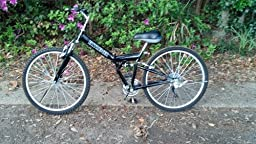 """New 26"""" Folding Mountain Bike Foldable Bicycle 6 SP Speed Shimano, Black Color"""