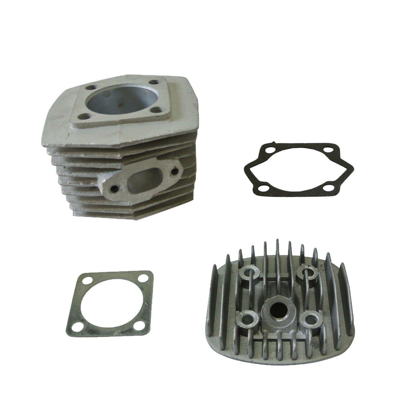 jrl 47 mm cilindro cabeza Set y Kit de pistón para motor de 80 cc motorizada bicicleta bicicleta partes: Amazon.es: Coche y moto