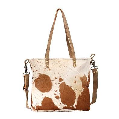 Amazon.com: Myra Bag S-1465 - Bolsa de lona y vaca para ...