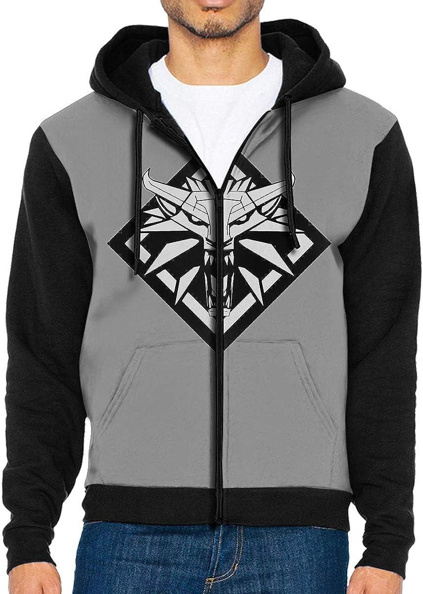 AIDANHAR Design Men Wied藕min with Cap Bag Zipper Suit Black