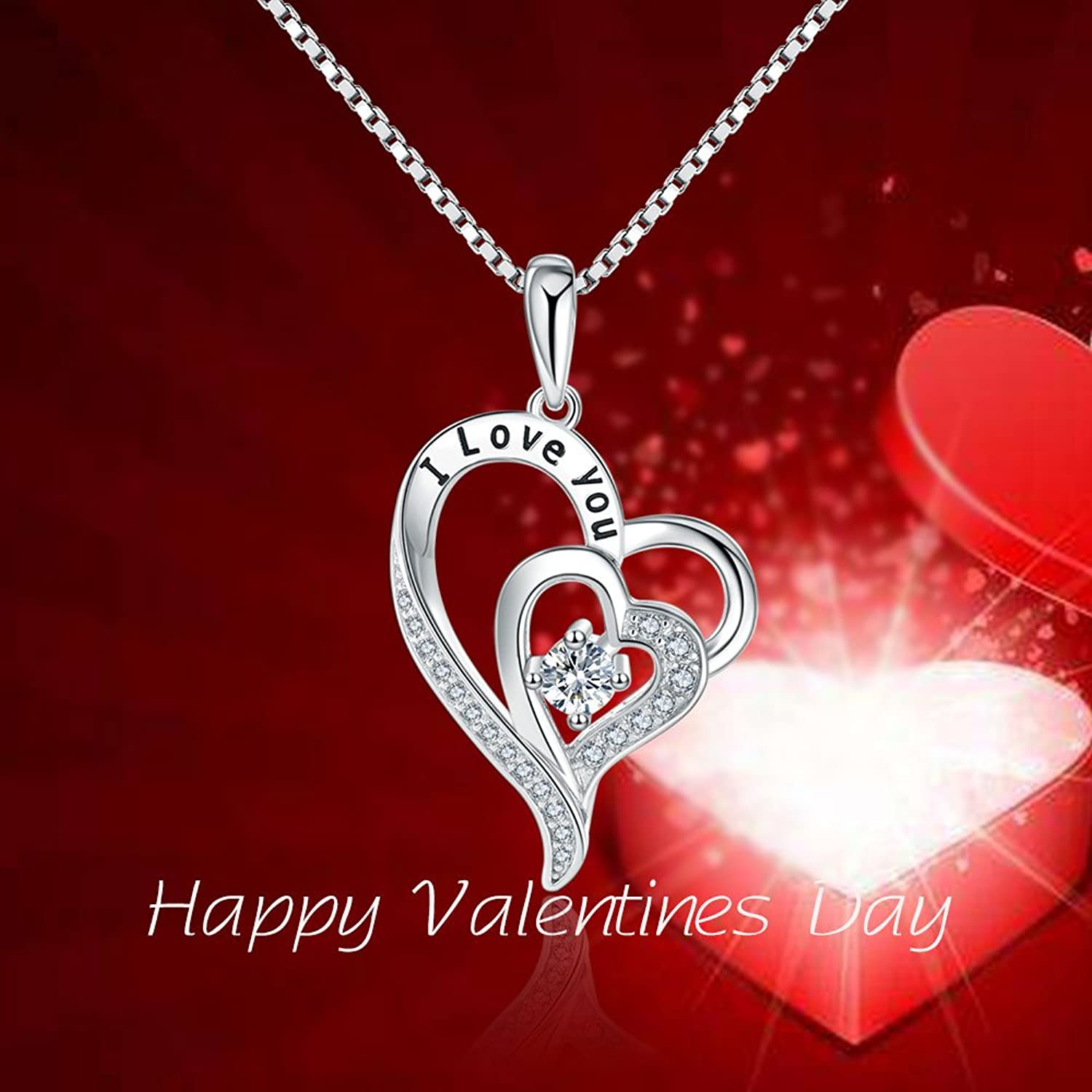 small charm love itm woman lady categories necklace jewelry valentines red day s o valentine pendant heart