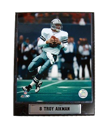 Image Unavailable. Image not available for. Color  Encore Select 511-89 NFL  Dallas Cowboys Troy Aikman Logo Plaque ... dbcd7afca