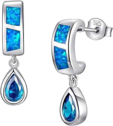 Petite ovale Suédois vert opale de feu Halo Zircone cubique Argent Sterling Boucles D/'oreilles Clou
