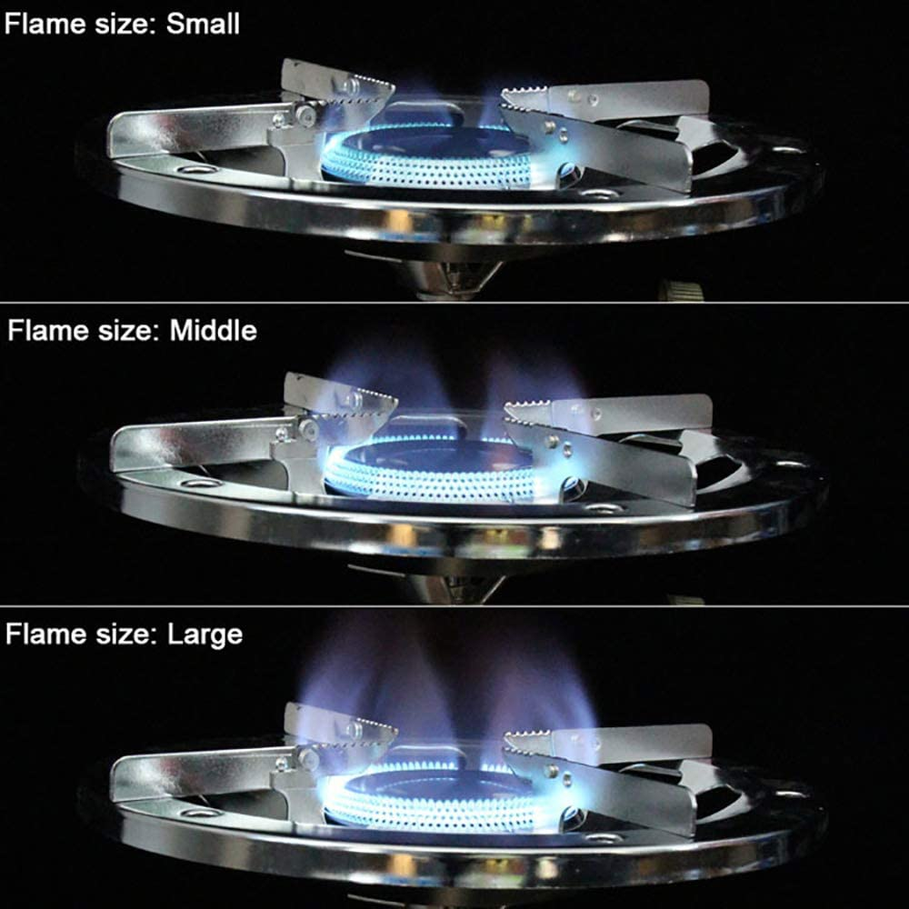 Linhua Gas Integrated Large Burner Portable Propane Camp Stove with Adjustable Burner Self-Closing Gas Cooktop for Outdoor