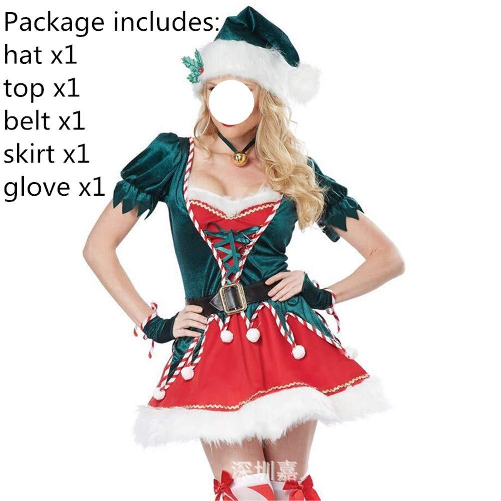 LINSID-Disfraz de Papá Noel de Navidad Cosplay Ropa de Papá Noel ...