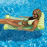 LILLIWEEN 4-in-1 Multi-Purpose Inflatable Pool Floats,Outdoor Foldable Water Hammock Swimming Pool Floating Sleeping Bed Air Mattress Foldable Swimming Pool for Adults Kids-Green