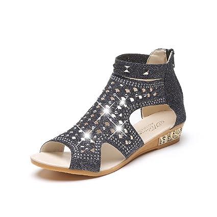 b860edb4b229b Amazon.com  lkoezi Women Rhinestone Sandals
