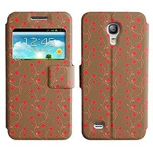 LEOCASE Flores Rojas Funda Carcasa Cuero Tapa Case Para Samsung Galaxy S4 Mini I9190 No.1000769