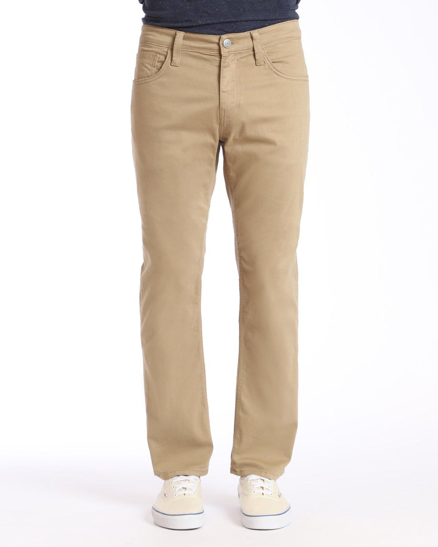 Mavi Men's Zach Regular-Rise Straight-Leg Jeans, British Khaki Twill, 35W x 30L