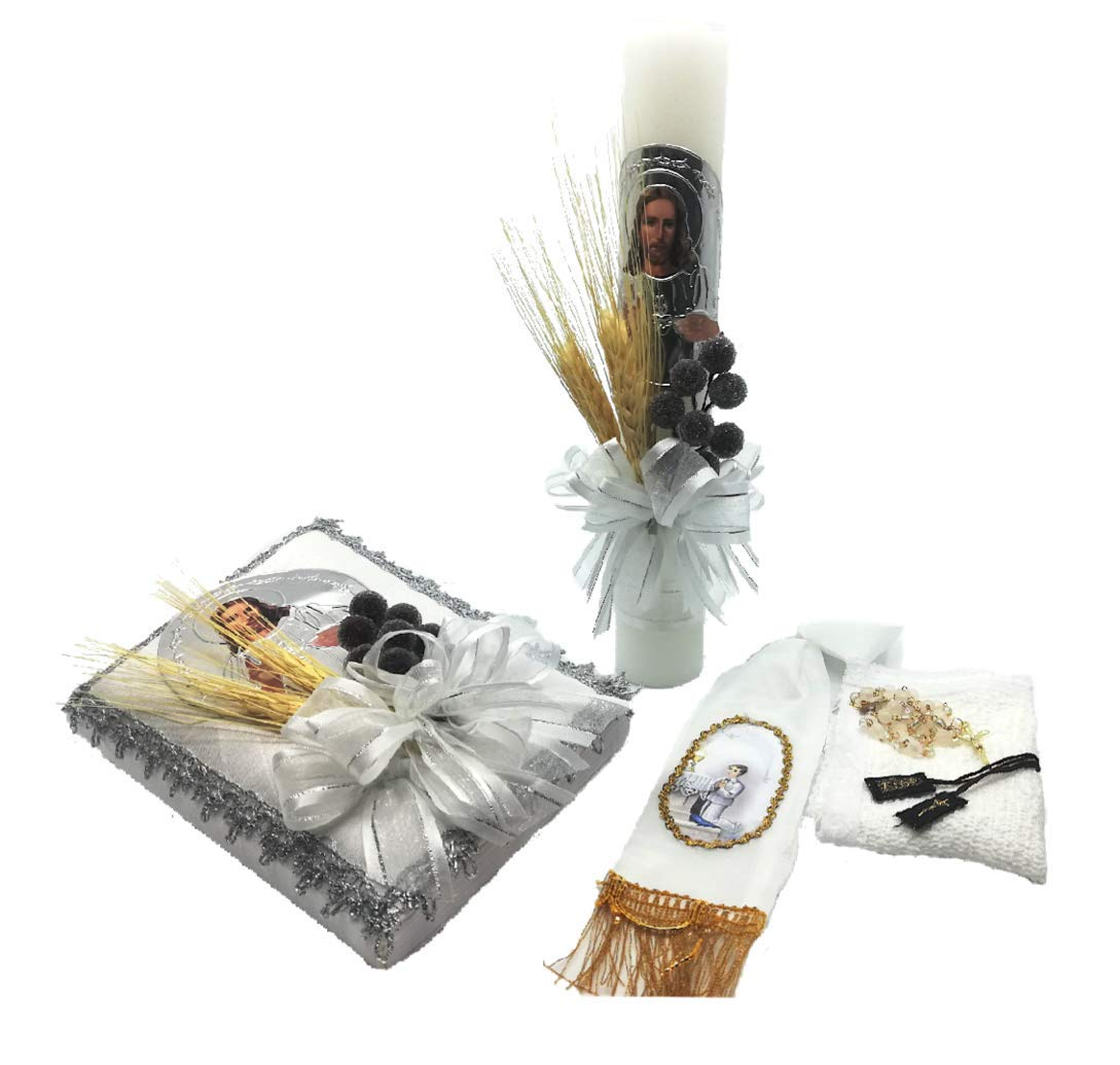 Casa Ixta First Communion Candle with a Jesus Christ Image