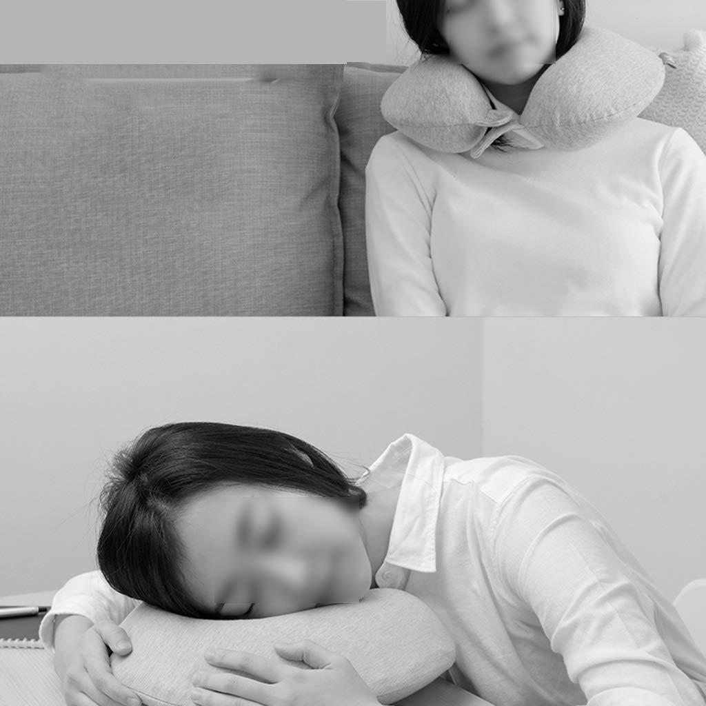U oreiller en forme de U oreiller cervical lent m/émoire de rebond coton colonne vert/ébrale cervicale voiture en forme de U oreiller cervical bureau voyage avion avec cou Multi-fonction cou sommeil ore