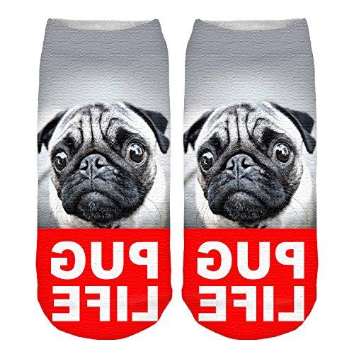 Girls Boys Womens Mens Socks Funky Full Print Low Ankle Jogging Running Fitness Sport Yoga Summer Funky Gym Animal 3D Fashion Socks