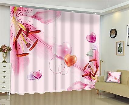 Tende A Fiori Per Camera Da Letto : Tende d fiore rosa multicolore cuore di pesca spazio visivo