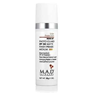 M.A.D Skincare Solor Protection Photo Guard SPF 50 Matte Finish Primer - Anti-Aging (Medium)