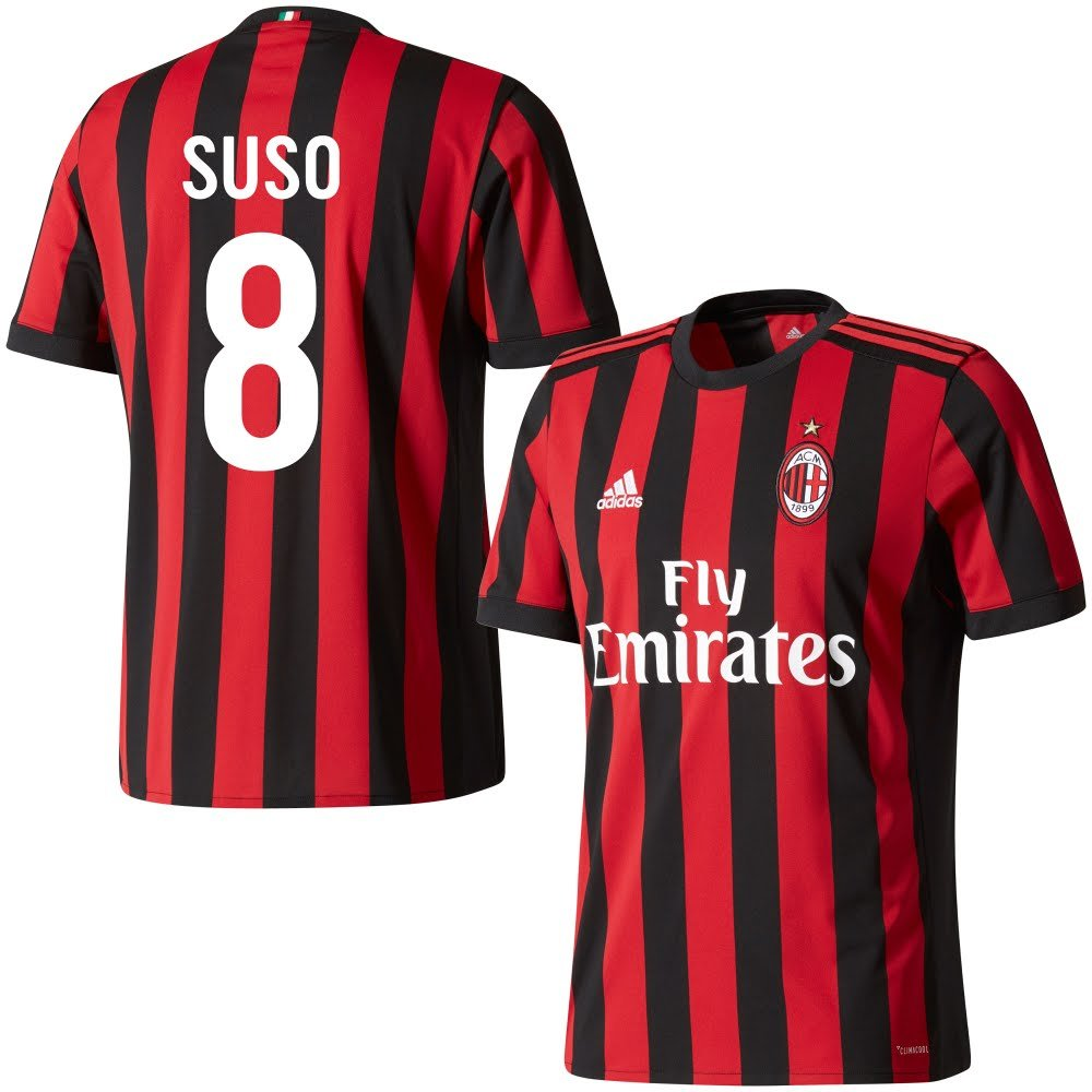 AC Mailand Home Trikot 2017 2018 + Suso 8 (Fan Style)