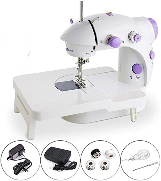 Yuaer Mini Sewing Machine, Portable Adjustable Speed Manual Maintenance Machine With Expansion Table, With Foot Pedal, Suitable For Family Children Beginners Travel: Amazon.es: Hogar