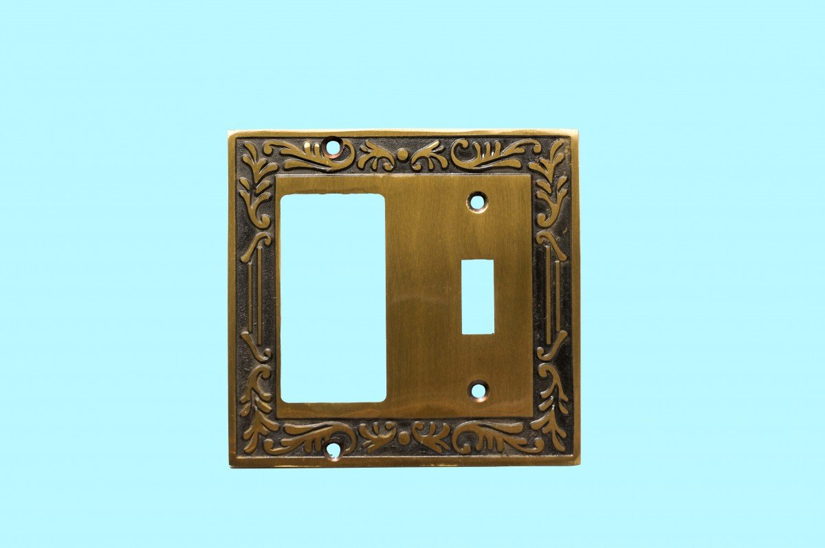 Victorian Switch Plate Toggle GFI Antique Solid Brass   Renovator's Supply by Renovator's Supply (Image #2)