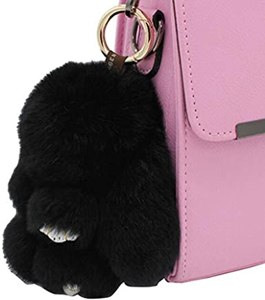 NEW Pink Mini Backpack Purse Keychain with a Bunny Cute Key Chain Coin Purse