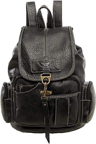 Womens Soft Leather School College Backpack Ladies Shoulder Travel Rucksack Bag