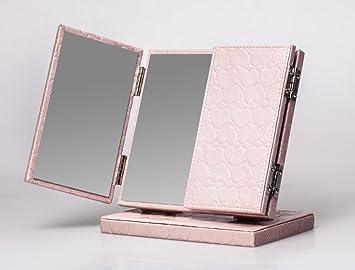 Make Up Spiegel : Meylee handgemachte tri fold beleuchtete eitelkeit tabelle make up