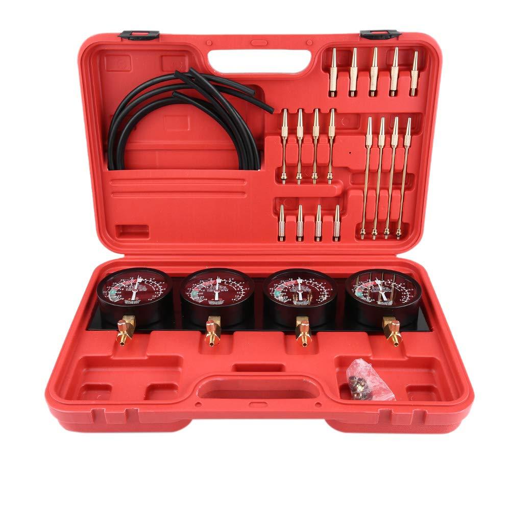 Estink Universal Gauge Carburetor, 4Pcs Motorcycle Fuel Vacuum Carburetor Carb Synchronizer Tool Balancer Gauge Kit