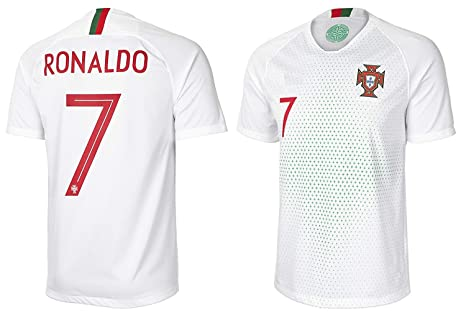 Amazon.com   NEW CRJY 2018 World Cup Portugal Ronaldo  7 Away Soccer ... d84b623f5