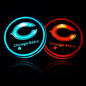 Wall Stickz Auto Parts 2PCS LED Cup Holder Mat Pad with USB Rechargeable Car Coaster Charg