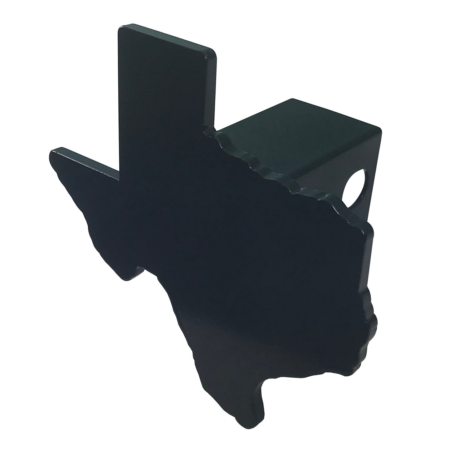 AMG Auto Emblems Premium State of Texas (Texas Shaped) SOLID METAL Heavy Duty Black Hitch Cover by AMG Auto Emblems