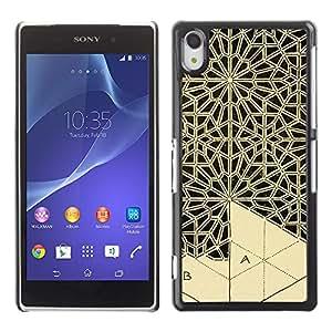 For SONY Xperia Z2 / D6502 / D6503 / D6543 / L50W / L50t / L50u Case , Art Handicraft Carving Lace - Diseño Patrón Teléfono Caso Cubierta Case Bumper Duro Protección Case Cover Funda