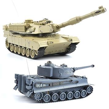 Kampfpanzer Tank Ferngesteuertes Spielzeug USB RC Battle Tank Panzer LED
