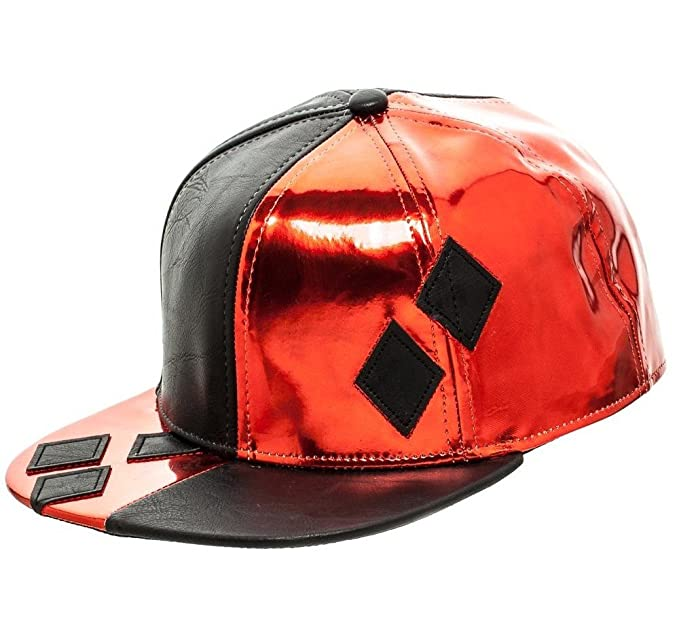 sports shoes 6da96 7338b Image Unavailable. Image not available for. Colour  DC Comics Harley Quinn  Snapback Suit Up Baseball Hat Adjustable Cap Adult