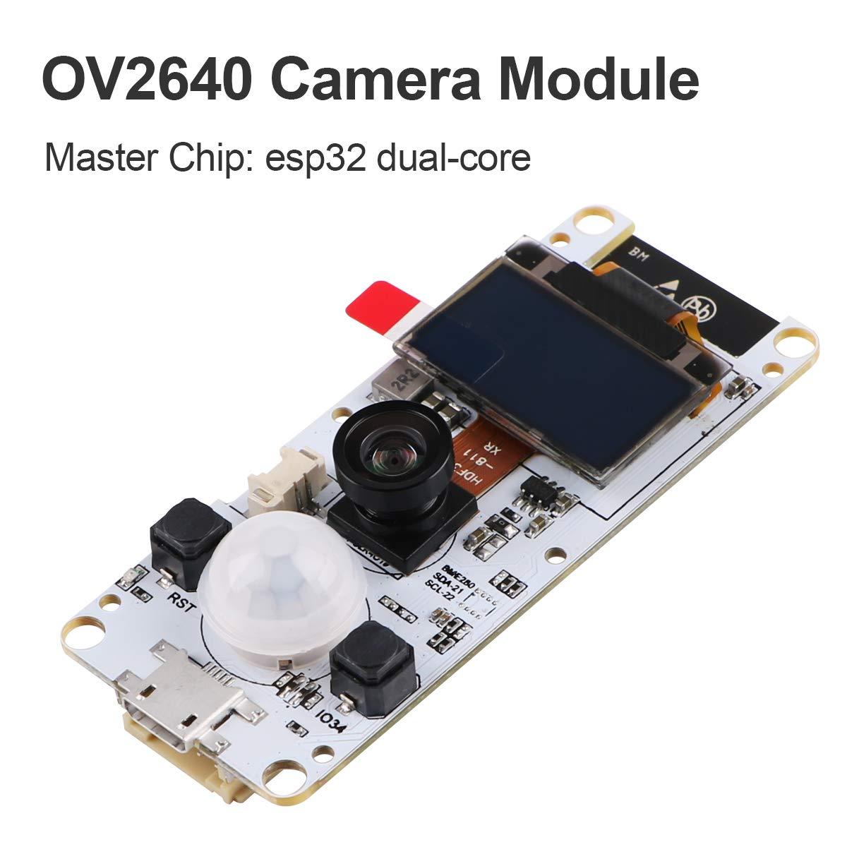 MakerHawk ESP32 Camera Module T-Camera ESP32 WROVER PSRAM Camera Module  4MBytes SPRAM ESP32-WROVER-B OV2640 Camera Module with 0 96 Inch  OLED-Fish-Eye