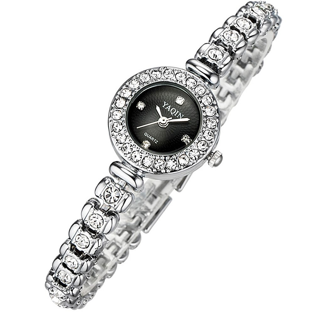 Women Bracelet Wrist Quartz Watch - Waterproof Dress Watches - Diamond Rhinestone Gold Watches - Women Ladies Wristwatch