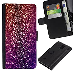 KingStore / Leather Etui en cuir / Samsung Galaxy Note 4 IV / Bling del partido del disco Dise?o Vestido Brillante
