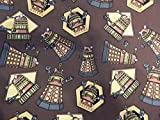 Brown Dr. Who/Doctor Who/ Daleks Drawstring Pouch