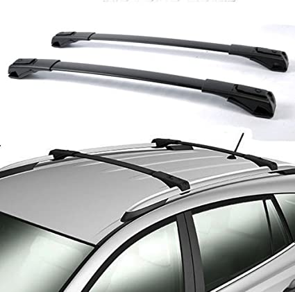 Nova for 13 14 15 16 17 Toyota RAV4 Black OE Style Roof Rack Cross Bars Set  Luggage Pair Aluminum (Install Instructions Steps in The Picture)