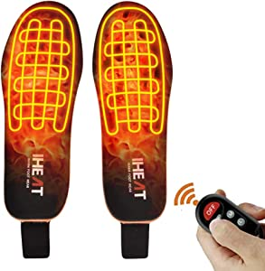 Heated Insoles Foot Warmers with Controller Rechargeable Lithium Battery Outdoor Work Ideal for Both Men and Women (Large)