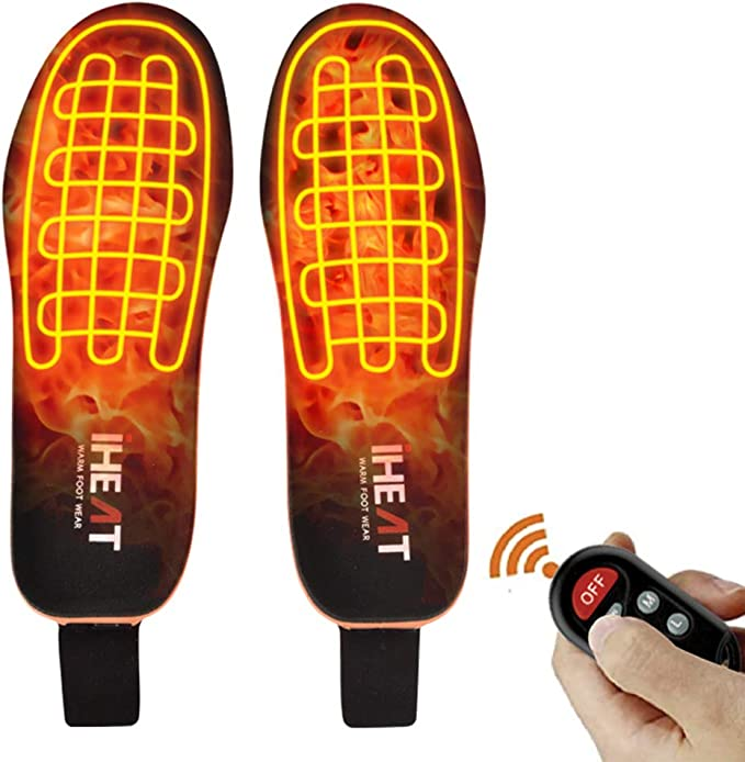 USB Rechargeable Heated Shoe Insoles Foot Warmer Heater Charging Heat Boots Pad