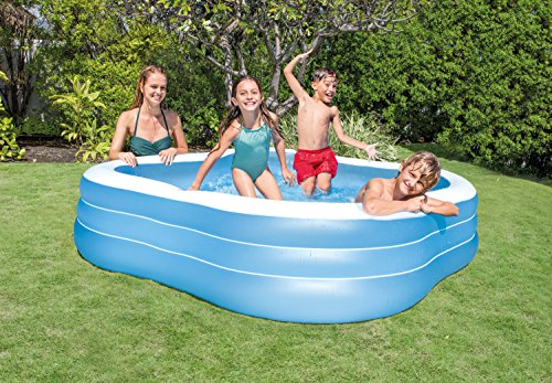 Intex Swim Center Family Inflatable Pool, 90″ X 90″ X 22″, for Ages 6+, Color may vary