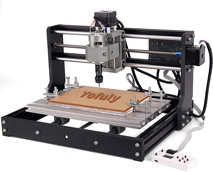 3 Axis GRBL Control PCB PVC Milling Engraving Machine Working Area 300x180x45mm by cenoz Upgrade CNC 3018 Pro-M Machine DIY CNC Machine with Protected Board with extension rod control board